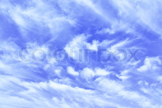 Sky and lots clouds, may be used as background