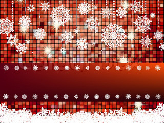 Crastmas card bright mosaic with light