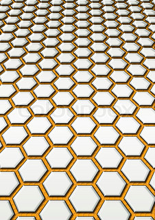 Simple background from leaving afar steel honeycomb