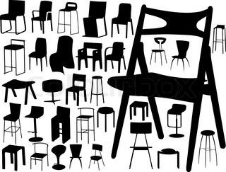 vector collection of chairs
