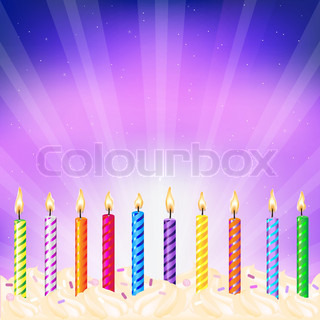 Birthday Candles, Vector Illustration