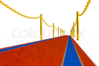 a red carpet background on white