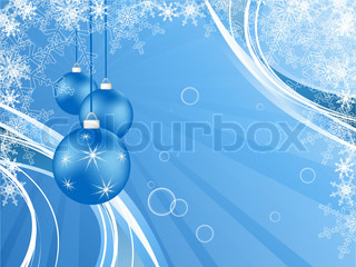 elegant vector background with snowflakes and decoration Eps10