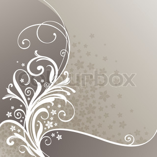Flowers and decorative ornament, vector