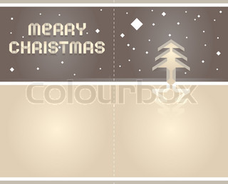 2012 Origami postcard Merry Christmas - Paper Tape Font