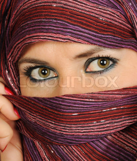 Close up picture of a Muslim woman wearing a