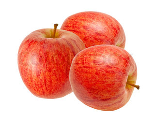 røde æble isoleret på hvid baggrund