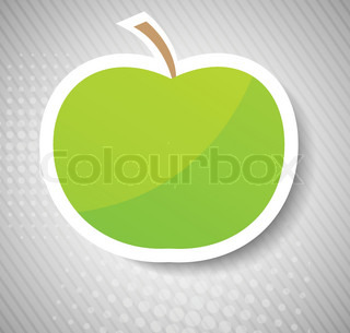 Concept with green apple