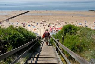 Stairway to the beach in the Netherlands
