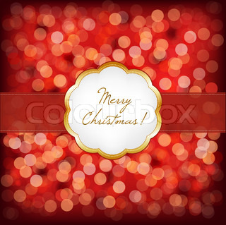 Merry Christmas Elegant Vintage Frame, Vector Illustration