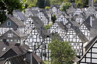 Half timbered houses in Freudenberg, Germany