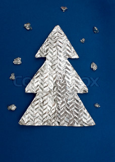 Christmas tree made ??out of foil