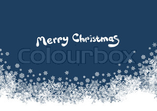 Christmas background with isolated edge and space for text
