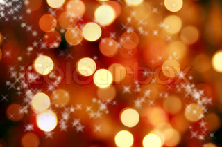 Abstract background of christmas orange leuchtet