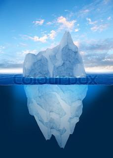 Antarktischer Eisberg im Ozean polar Meer Hintergrund