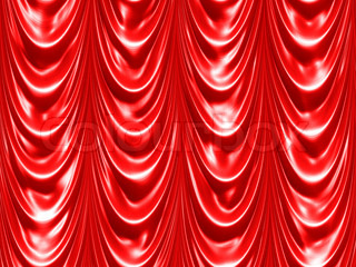 Abstract generated classical red curtain drapes background