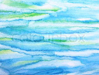 Abstract watercolor background with colorful different layers on paper texture