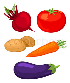 Beet, tomato, potato, carrots and eggplant