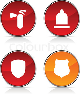 sicherheit glossy icons vector buttons. Black Bedroom Furniture Sets. Home Design Ideas