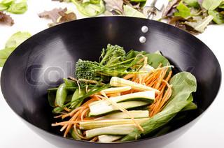 Orientalische Rühren Braten im wok