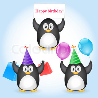 Vector of 'birthday, cartoon, card'