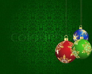 Beautiful vector Christmas New Year card for design use