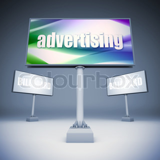 A 3d illustration of blank template billboards