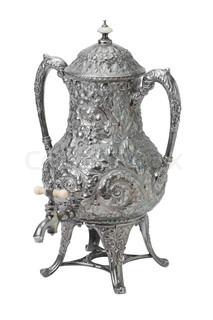 tea samovar isolated on white