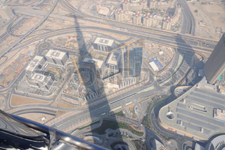 Aerial view from Burj Khalifa, Dubai United Arab Emirates