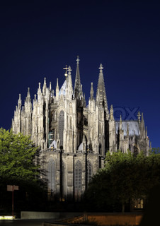 This photograph represent the famous Cologne Cathedral at night, Germany