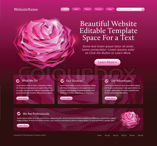 beauty website template for woman, beauty products, salons