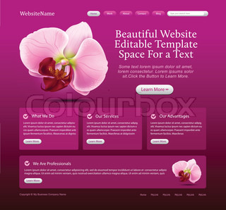 beauty website template layout - purple