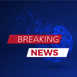 Breaking News Banner On Glowing Particles Background Vector Illustration