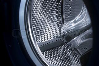 Modern washing machine drum interior