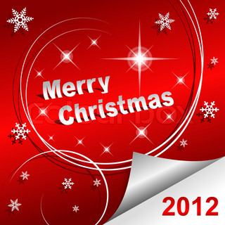 Merry Christmas 2012 red background