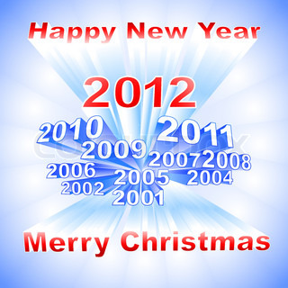 New Year 2012 light background