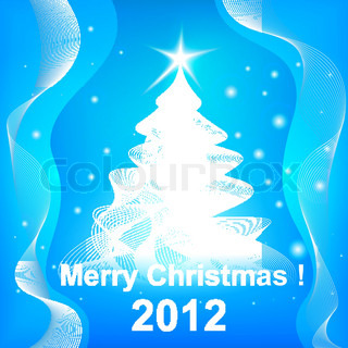Merry Christmas 2012 rosette background