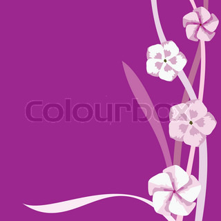 Vector abstract floral print on a purple background