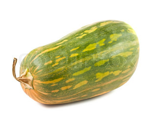 Green squash isolated on white background