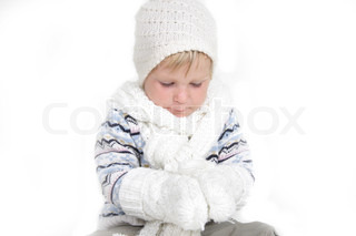 cute child in winter clothes