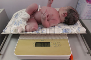 newborn baby just after delivery