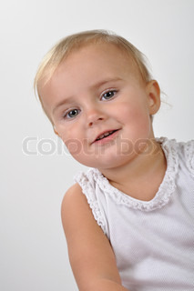 portrait of pretty  young girl posing