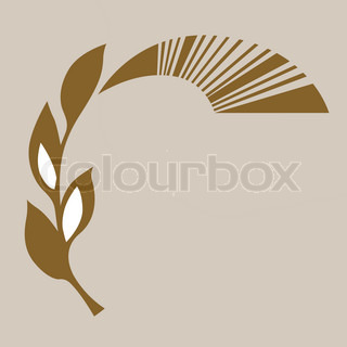 abstract symbol on brown background