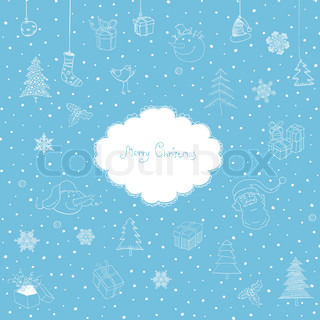 Merry Christmas Cute Vector Background
