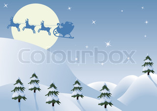 vector holiday background with santa