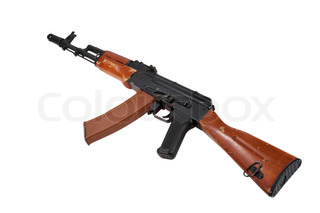 kalashnikov ak-74 isolated on a white background