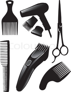 A set of tools for hairdressers Vector illustration