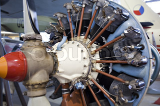 airplane engine closeup, concept of machinery