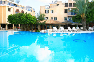 Cyprus Resort With Swimming Pool Stock Photo Colourbox