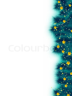 Thank you card on a bright christmas background